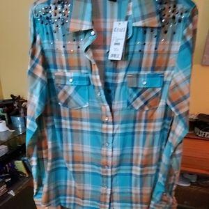 Button up long sleeve western shirt